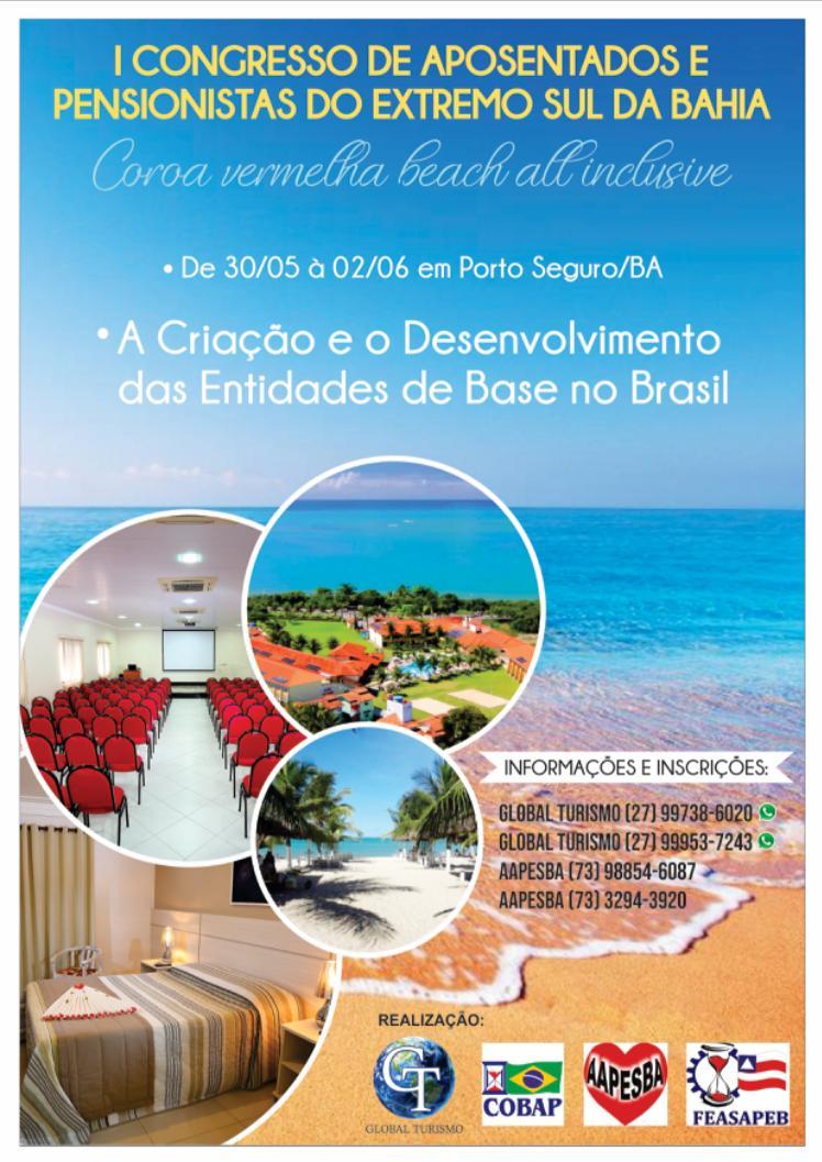 AAPESBA vai realizar o I Congresso de Aposentados e Pensionistas do Extremo Sul da Bahia