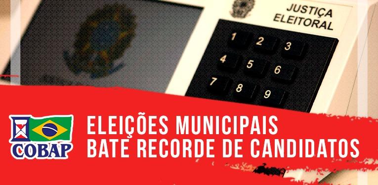 Eleições municipais têm recorde de candidatos