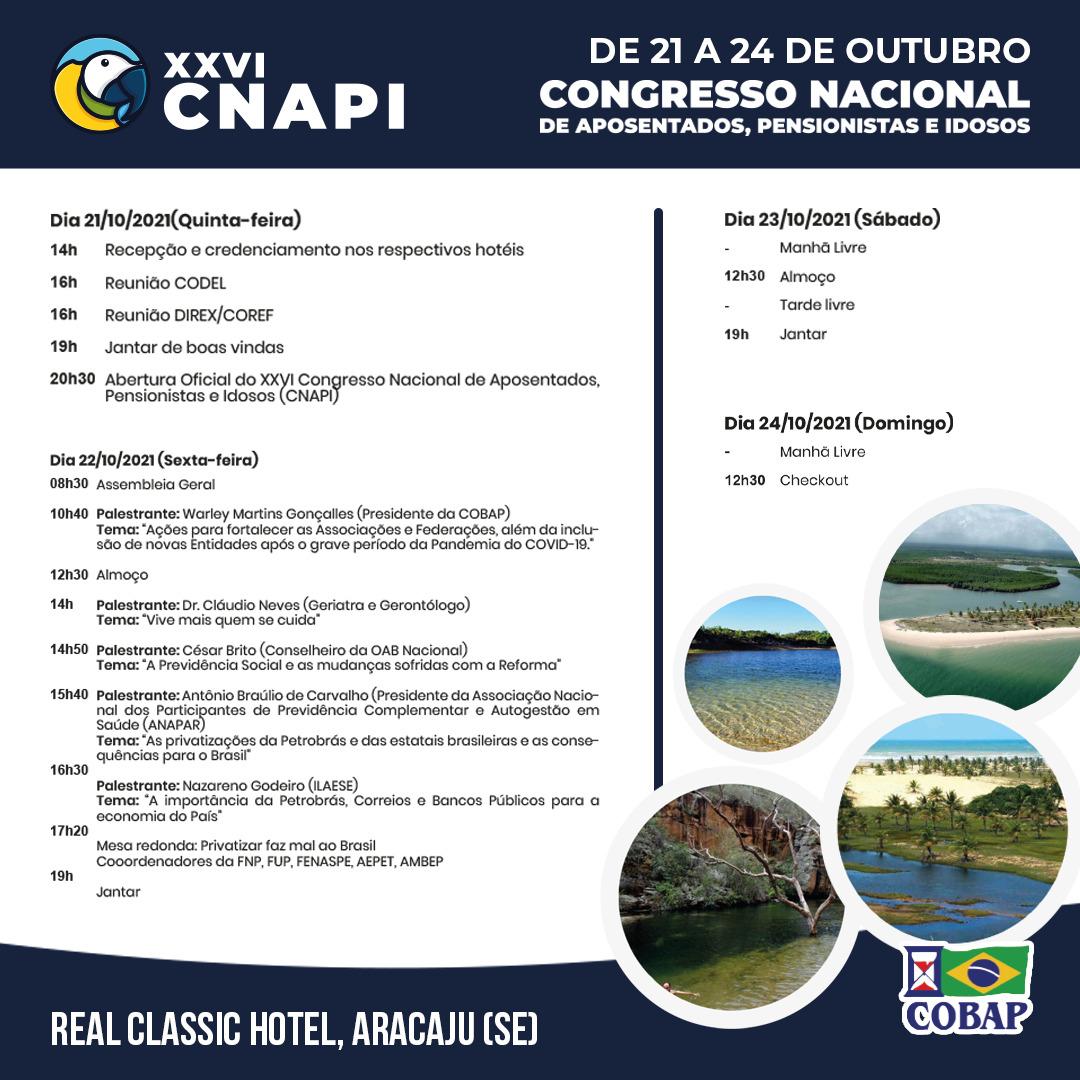 Confira a programação do XXVI CNAPI