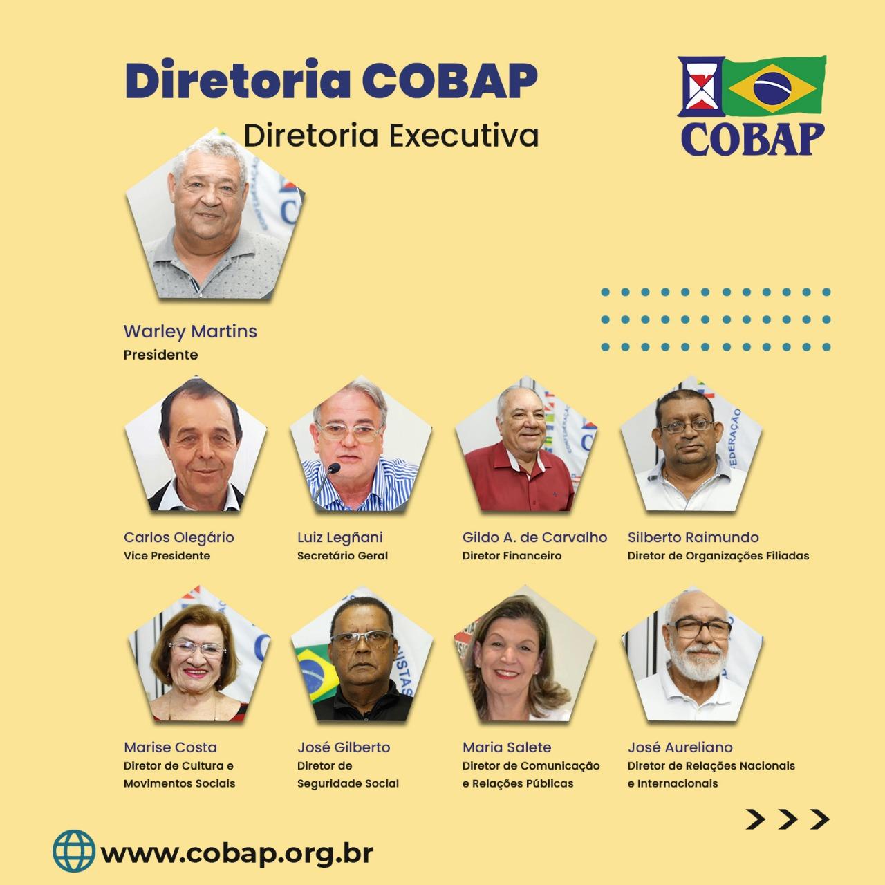 Diretoria da COBAP supera desafios da pandemia e intensifica luta em prol dos aposentados, pensionistas e idosos