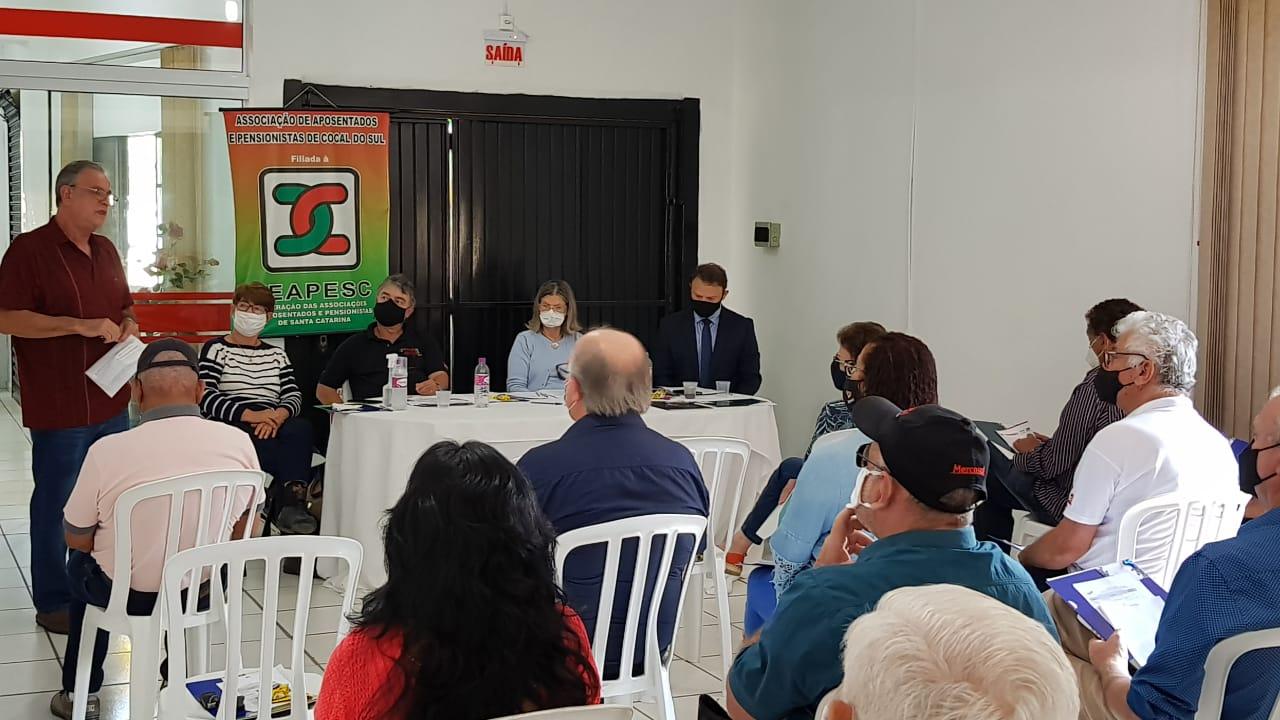 Diretora de comunicação da COBAP reúne lideranças do sul de SC para tratar sobre pautas nacionais dos aposentados